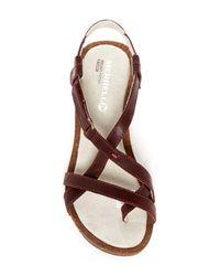 Merrell - Brown Revalli Aura Strap Wedge Sandal - Lyst