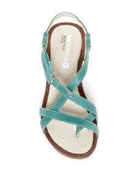 Merrell | Multicolor Revalli Aura Strap Wedge Sandal | Lyst