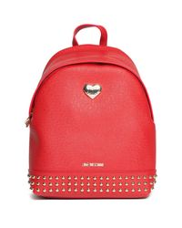 Love Moschino - Red Studded Backpack - Lyst