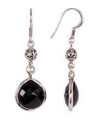 Lois Hill - Metallic Sterling Silver Black Onyx Tabiz Drop Earrings - Lyst