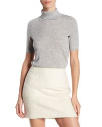 In Cashmere | Gray Cashmere Turtleneck Tee | Lyst
