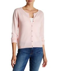 In Cashmere - Pink Seamout Detail Cashmere Cardigan - Lyst