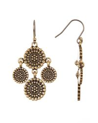 Lucky Brand - Multicolor Medallion Chandelier Earrings - Lyst
