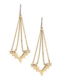 Lucky Brand - Metallic Geo Chandelier Earrings - Lyst