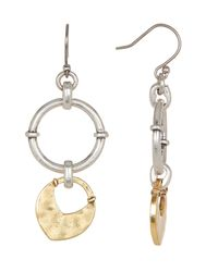 Lucky Brand - Multicolor Two-tone Dangle Earrings - Lyst