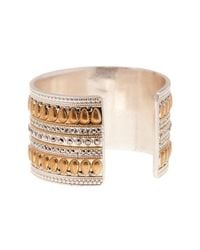 Lucky Brand - Metallic Mixed Pave Cuff - Lyst