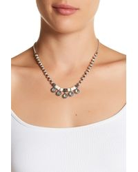 Lucky Brand | Natural Charm Bone Beaded Collar Necklace | Lyst