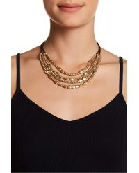 Lucky Brand | Black Multi-strand Beaded Collar Necklace | Lyst