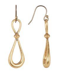 Lucky Brand | Multicolor Hoop Drop Earrings | Lyst