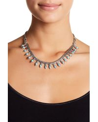 Lucky Brand - Multicolor Turquoise Detail Woven Collar Necklace - Lyst