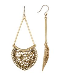 Lucky Brand | Multicolor Lace Openwork Large Earrings | Lyst