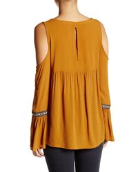 Jolt - Multicolor Cold Shoulder Woven Blouse - Lyst