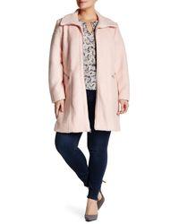 Jessica Simpson | Pink Zip Front Coat (plus Size) | Lyst