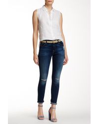 7 For All Mankind | Blue Gwenevere Ankle Skinny Jean | Lyst