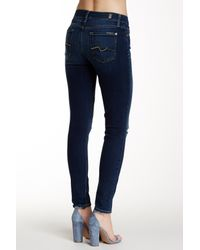 7 For All Mankind - Blue Gwenevere Ankle Skinny Jean - Lyst
