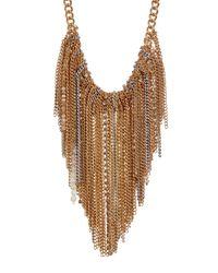 Kenneth Cole - Natural Fringe Frontal Bib Necklace - Lyst