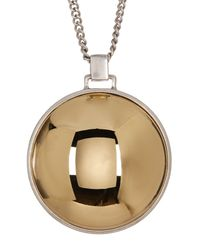 Kenneth Cole | Multicolor Long Domed Pendant Necklace | Lyst