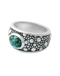 King Baby Studio | Metallic Sterling Silver Turquoise Accented Beaded Ring | Lyst