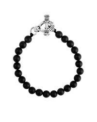King Baby Studio | Black Sterling Silver Onyx Beaded Bracelet | Lyst