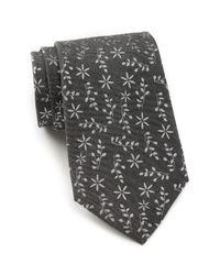 Calvin Klein | Black Melange Daisy Tie for Men | Lyst