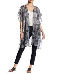 Kensie   Black Printed Kimono   Lyst