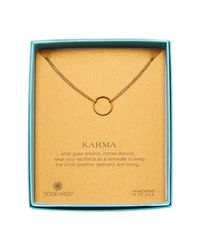 Dogeared | Metallic 14k Gold Plated Sterling Silver Karma Double Chain Necklace | Lyst