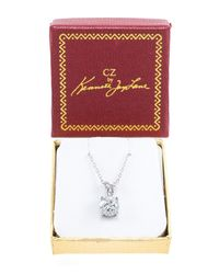 CZ by Kenneth Jay Lane - Multicolor Solitaire Cz 8 Claw Pendant Necklace - Lyst