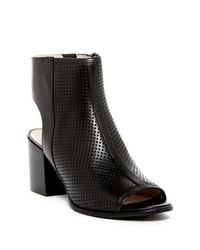 Kenneth Cole - Black Charlo Perforated Open Toe Booties - Lyst