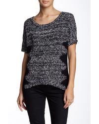 Lavand - Black Short Sleeve Zigzag Sweater - Lyst
