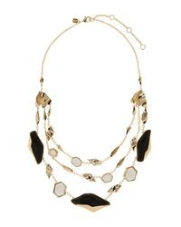 Alexis Bittar - Black Lucite Tier Station Necklace - Lyst