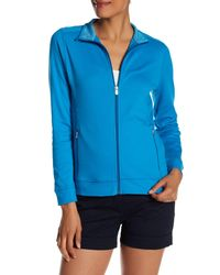 Peter Millar - Blue Full Zip Stretch Interlock Jacket - Lyst