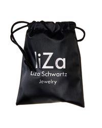 Liza Schwartz - Metallic Groovy Day Cz Leather Bracelet - Lyst