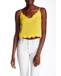 Lush - Yellow Scallop Edge Cami - Lyst