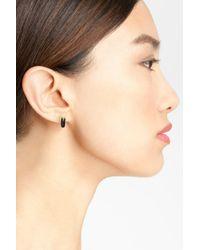 Marc Jacobs - Black 'zipper Pull' Stud Earrings - Lyst
