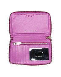 Marc By Marc Jacobs - Purple Wingman Leather Wallet - Lyst