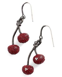 Marc By Marc Jacobs - Multicolor Pave Cherry Earrings - Lyst