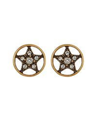 Marc Jacobs - Metallic Crystal Star Stud Earrings - Lyst