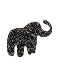 Marc Jacobs - Black Pave Elephant Brooch - Lyst