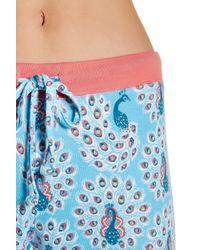 Munki Munki - Multicolor Peacock Three Piece Pajama Set - Lyst