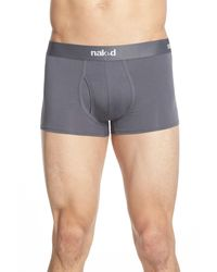 Naked | Gray Essential 2-pack Stretch Cotton Trunks for Men | Lyst