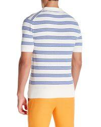Mr Turk - White Karl Short Sleeve Polo for Men - Lyst