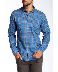 Vince - Blue Slim Fit Single Pocket Button Up Shirt for Men - Lyst
