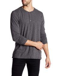 VINCE | Gray Long Sleeve Henley Shirt for Men | Lyst