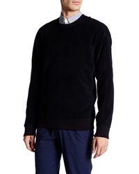 VINCE | Black Long Sleeve Reversible Crew Neck Sweater for Men | Lyst