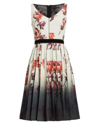 Marc Jacobs | Multicolor Floral Print Pleated Stretch Cotton Dress | Lyst