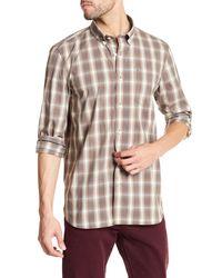 Victorinox | Gray Long Sleeve Plaid Standard Fit Shirt for Men | Lyst