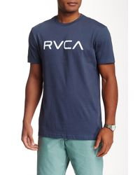 RVCA - Blue Big Tee for Men - Lyst
