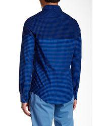 Ben Sherman - Blue Long Sleeve Slim Fit Gingham Shirt for Men - Lyst