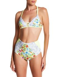 Maylana Swim - Multicolor Kapono Floweret High-waist Bikini Bottom - Lyst