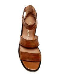 Bettye Muller - Brown Marquee Fringe Platform Sandal - Lyst